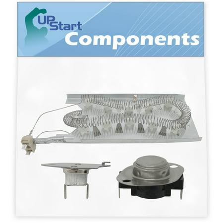 3387747 Dryer Heating Element & 279769 Thermal Cut-Off Kit Replacement for Kenmore / Sears 11096592430 Dryer - Compatible with WP3387747 & 279769 Heater Element & Thermal Fuse Kit - image 3 de 4