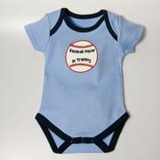 Little Ashkim BBBASEBBS36 Baseball Bodysuit - Blue, 3-6 months
