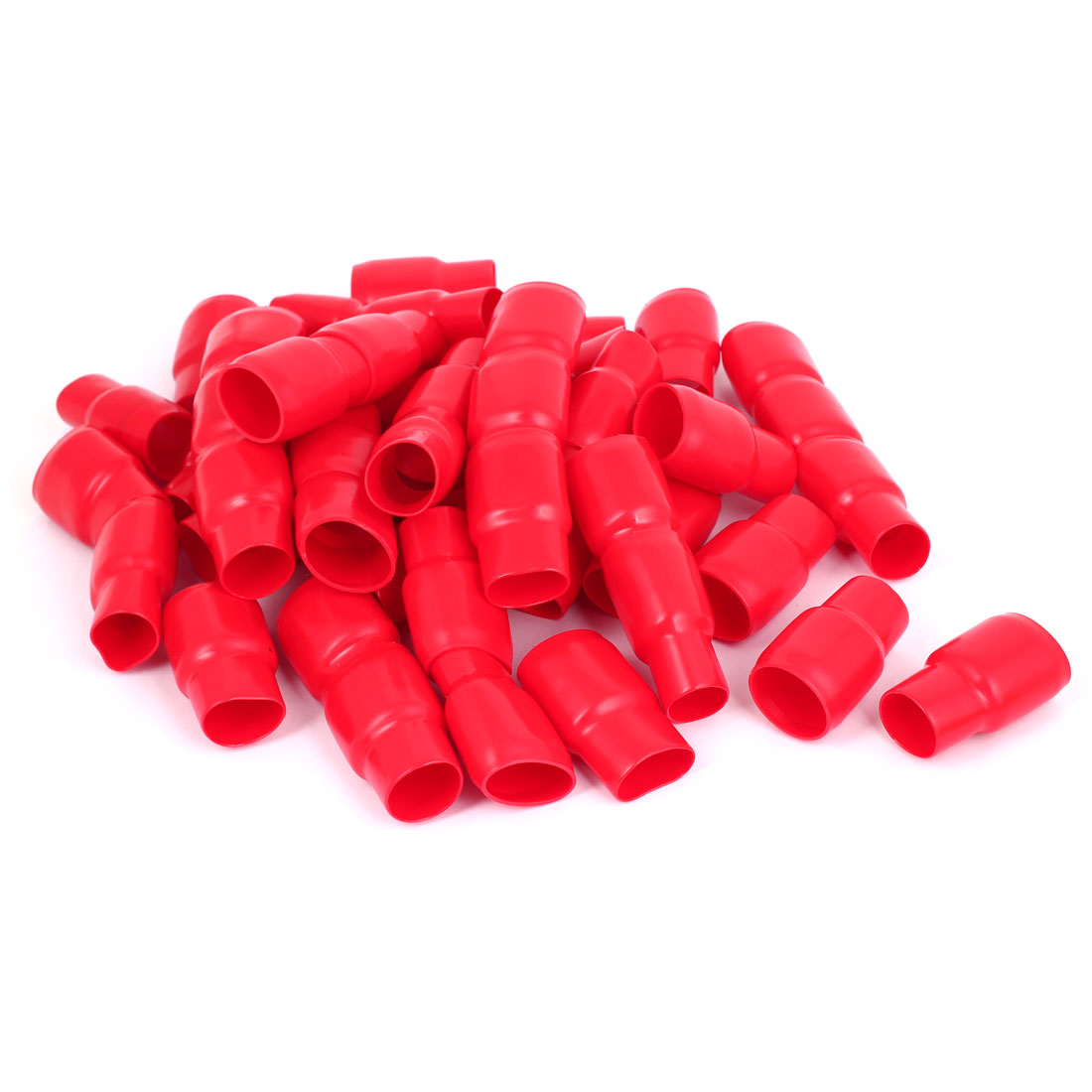 50pcs Red PVC 200mm2 Wire Cord Terminal End Protect Insulated Sleeve Cover Caps - image 1 of 1