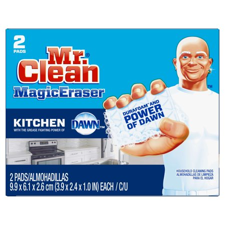 Mr Clean Magic Eraser Kitchen Cleaning Pads With Durafoam 2 Count