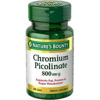 3 Pack - Nature's Bounty Mega Chromium Picolinate 800 mcg tablets 50 ea