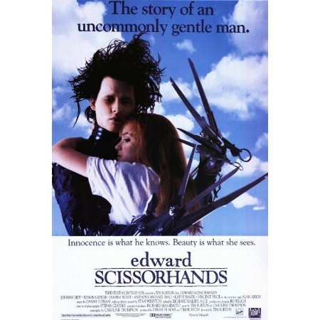 Edward Scissorhands 27 x 40 Movie Poster - Style B, Edward Scissorhands 27 x 40 Movie Poster - Style B By postersdepeliculas,USA](Edward Scissorhands Hands For Sale)