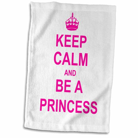 Hot Girl In Towel (3dRose Keep Calm and be a Princess - hot pink - fun girly girl gifts for your princess carry on funny humor - Towel, 15 by)