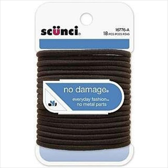 No Damage Elastic Bands, Brown 18 Count Pack Of 3