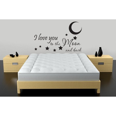 I Love You To The Moon And Back Vinyl Decal Quotes Sticker Wall Art