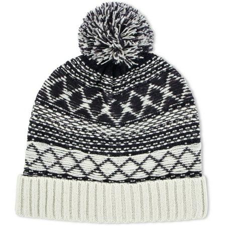 62b4fa86b ABG Accessories Big Boys Acrylic Knit Winter Cuffed Beanie Hat With Yarn Pom  - Walmart.com