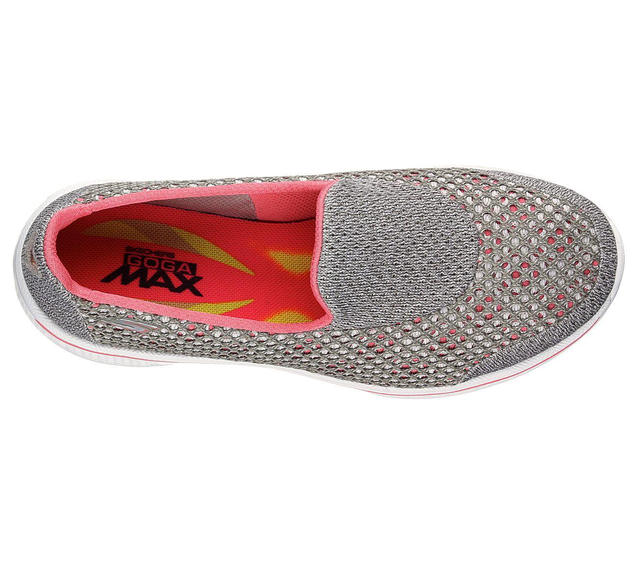 Women/'s Skechers 14145 GoWalk 4 Kindle Walking Shoe Wide Width Gry//Pink O62 New