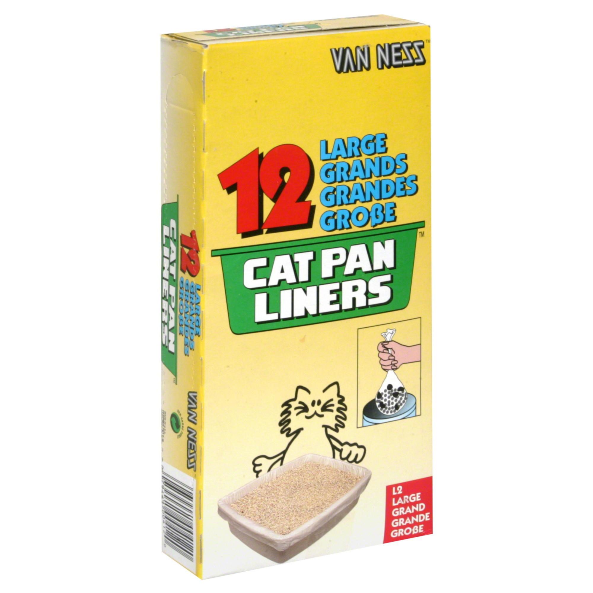 Van Ness, Cat Litter Box Liners, Large, 12 count
