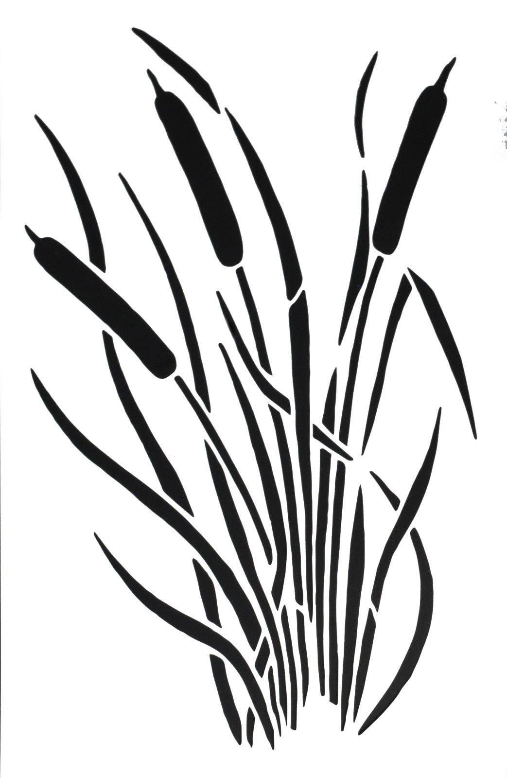 Spray Paint Camouflage Stencils Camo Jon Duck Boat Cattail Fern 5