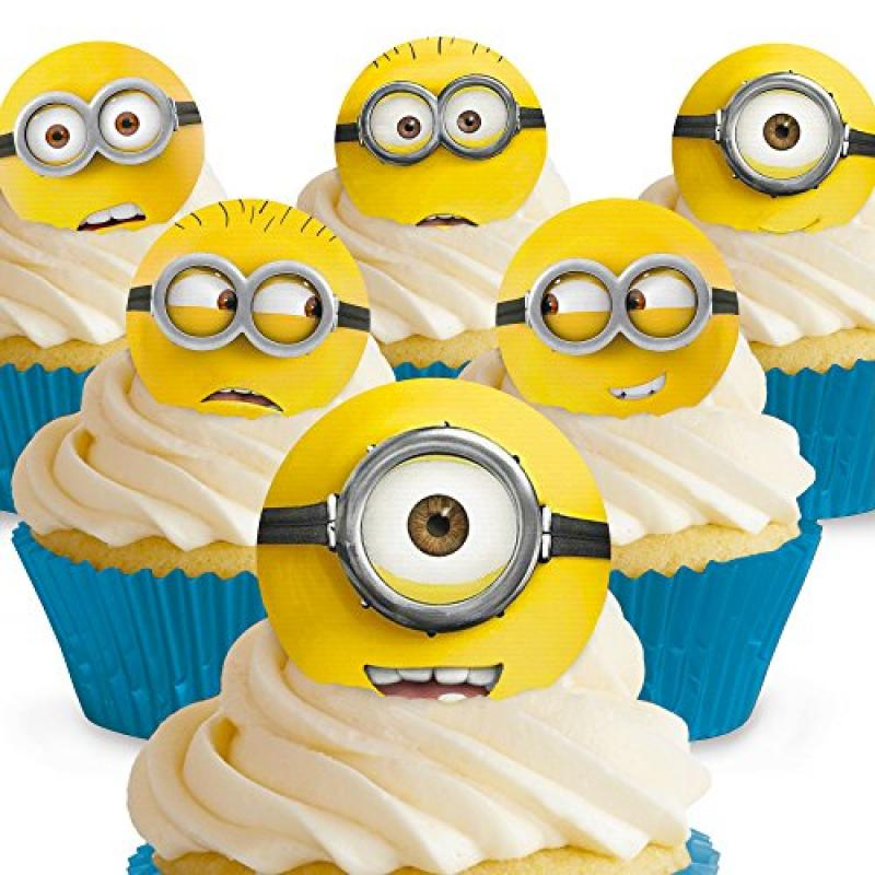 Cakeshop 12 X Pre Cut Despicable Me Minions Edible Cake Toppers