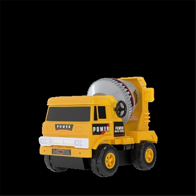 Mota YLLWCAR-MIX Mini Construction Truck-Mixer, Yellow