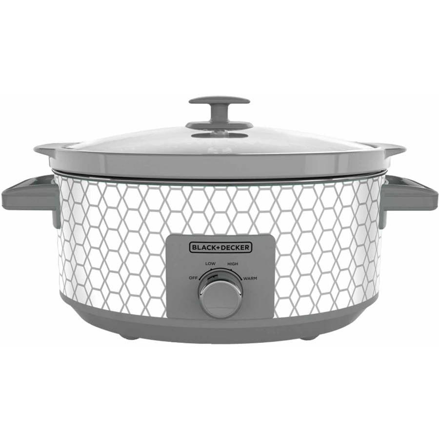 BLACK+DECKER 7-Quart Slow Cooker with 3 Heat Settings, SC1007D