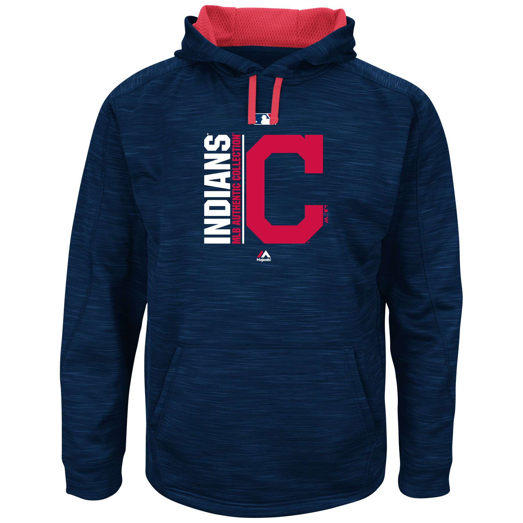 Cleveland Indians Majestic Big & Tall Team Icon Streak Hoodie - Navy