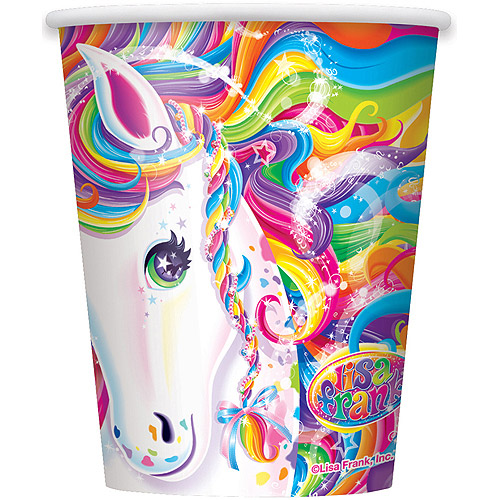 9 oz Lisa Frank Rainbow Majesty Paper Cups, 8pk
