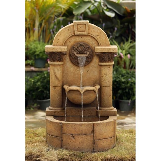 JecoInc FCL124 Marble Pillar Garden Wall fountain