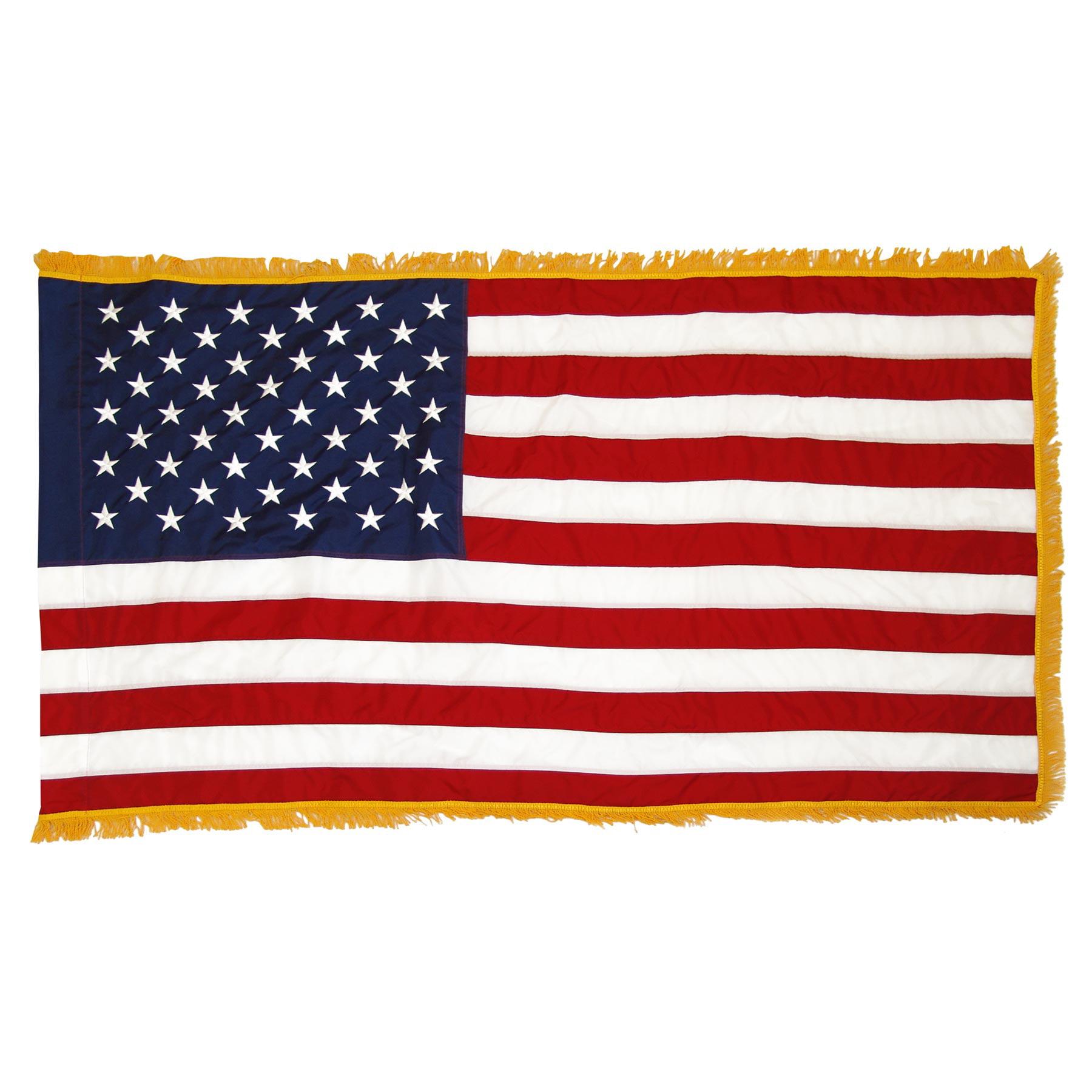 Indoor American Flag 4ft x 6ft Nylon