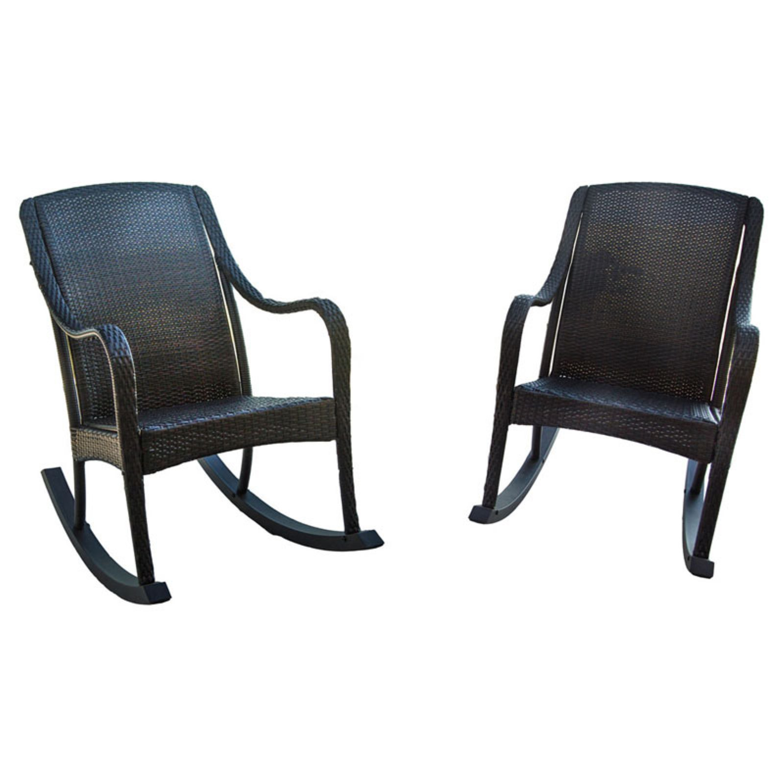 Hanover Orleans All-Weather Wicker Rocking Chairs - Set of 2