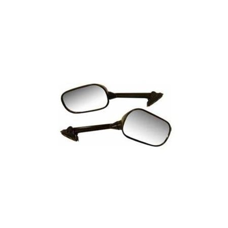 Emgo 20-97202 OEM Replacement Mirror - Black - Left