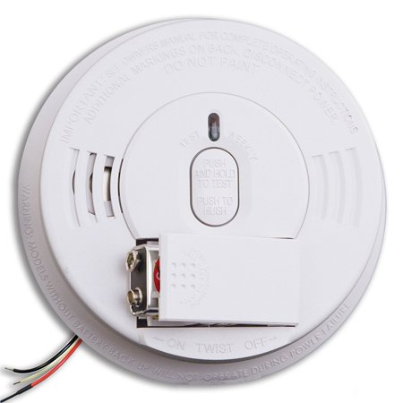 i12060 Hardwired Smoke Alarm with Front Load Battery Backup Smoke Alarm, Front load battery door provides easy access which reduces the.., By Kidde - Kidde Front Load Battery