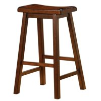 "Bowery Hill 29"" Wooden Bar Stool in Walnut (set of 2) by Bowery Hill"