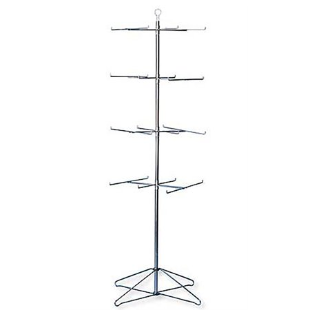 """4-Tier Chrome Wire Spinner Rack (6 tiers - space 12"""" apart)"""