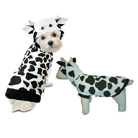 Dog Costume - COW COSTUMES Moo Moo Outfits For Dogs As Farm Animal(Size - Cow Outfits