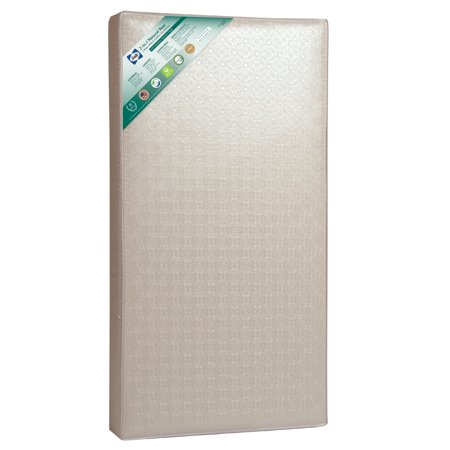 Sealy 2-in-1 Natural Rest 2-Stage Crib and Toddler Mattress, Soy Memory Foam, Firmer Infant