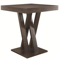 Bowery Hill Square Counter Height Dining Table in Cappuccino