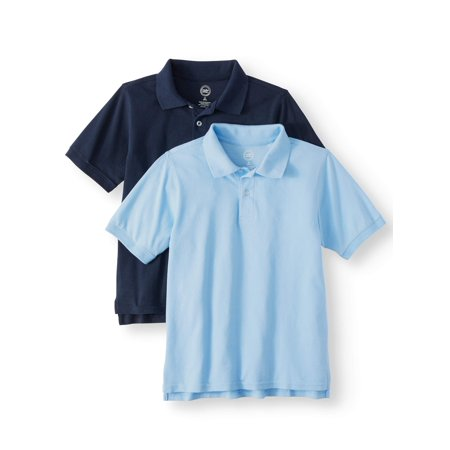 Wonder Nation Short Sleeve Pique Polo, 2-Pack (Little Boys & Big Boys) Boys Original Pique Polo Shirt