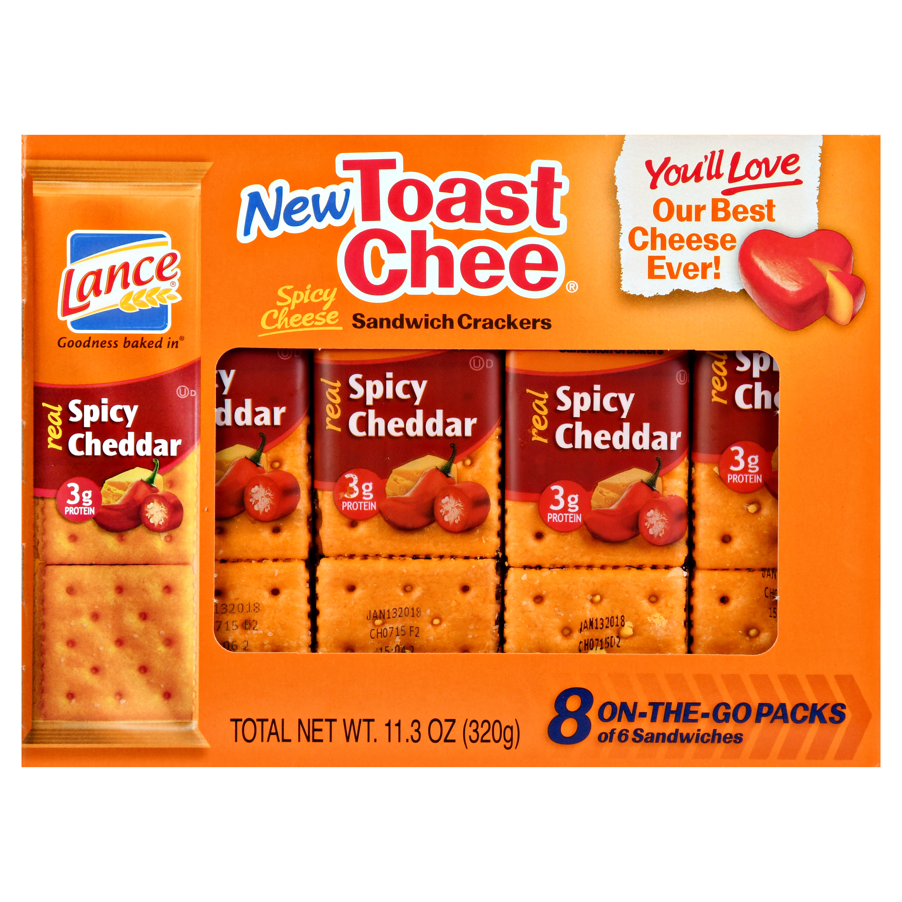 Lance Toast Chee Spicy Cheddar Sandwich Crackers