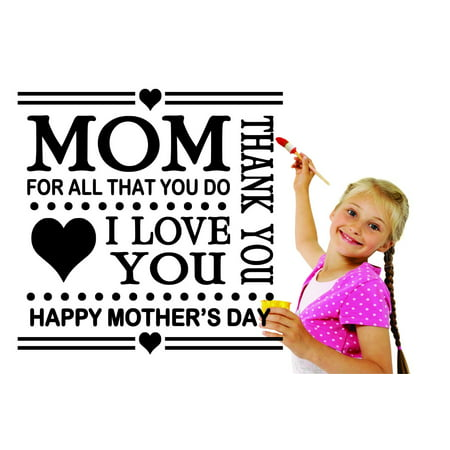 Custom Designs Mom Thank You For All That You Do I Love You Happy Mother's Day Heholiday Quote - Happy Halloween Love Quotes
