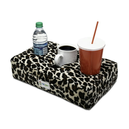 Cup Cozy Pillow (Cheetah)- The world's BEST cup holder! Keep your drinks close and prevent spills. Use it anywhere-Couch, floor, bed, man cave, car, RV, park, beach and