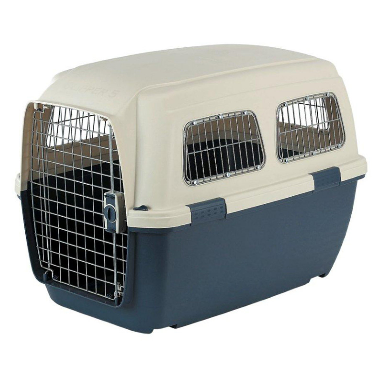 Clipper Ithaka Plastic Pet Carrier with Metal Windows