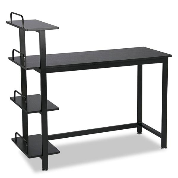 office desk shelves wall mounted computer desk home office pc laptop study workstation table shelves