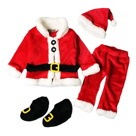 Fancyleo Baby Christmas Costume Christmas Costume Girl Child Santa Claus Clothes Christmas Cosplay Party Costume ()