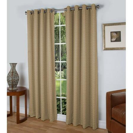 Ricardo Trading Spanish Steps Geometric Room Darkening Thermal Grommet Single Curtain Panel ()