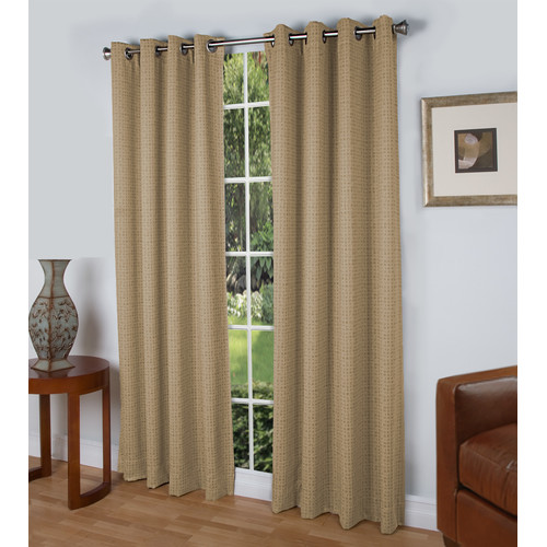 Ricardo Trading Spanish Steps Geometric Blackout Thermal Grommet Single Curtain Panel