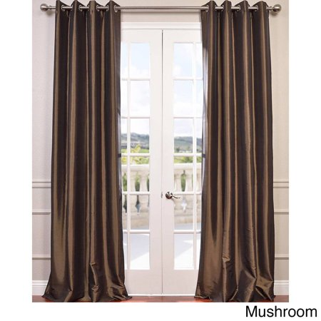 Exclusive Fabrics  Grommet Blackout Faux Silk Taffeta 84-inch Length Curtain Panel - 50 X 84
