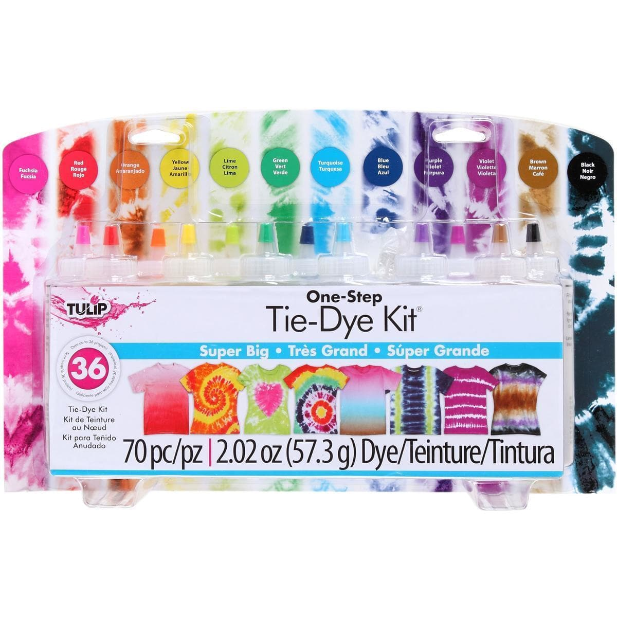 Tulip One Step Super Big Tie Dye Kit 12 Colors Makes 36 Projects