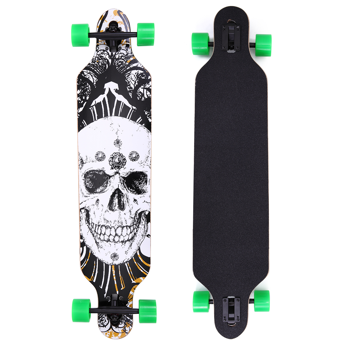 """Lazymoon 41"""" X 10"""" Professional Long Board Skateboard Downhill Cruiser 9 Layer Canadian Maple Complete, Black... by Lazymoon"""