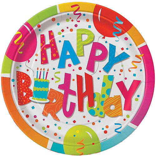 "7"" Jamboree Birthday Paper Dessert Plates, 8ct"