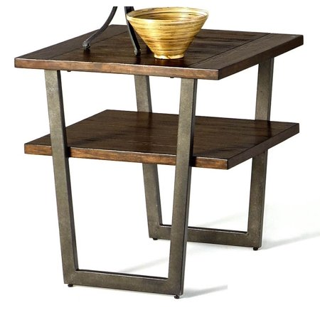 Rectangular 1 shelf end table for 12 wide side table