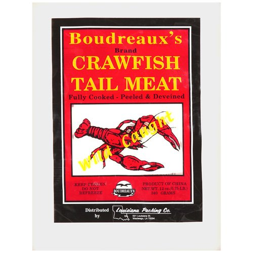 Boudreaux's Tail Meat Crawfish, 12 oz