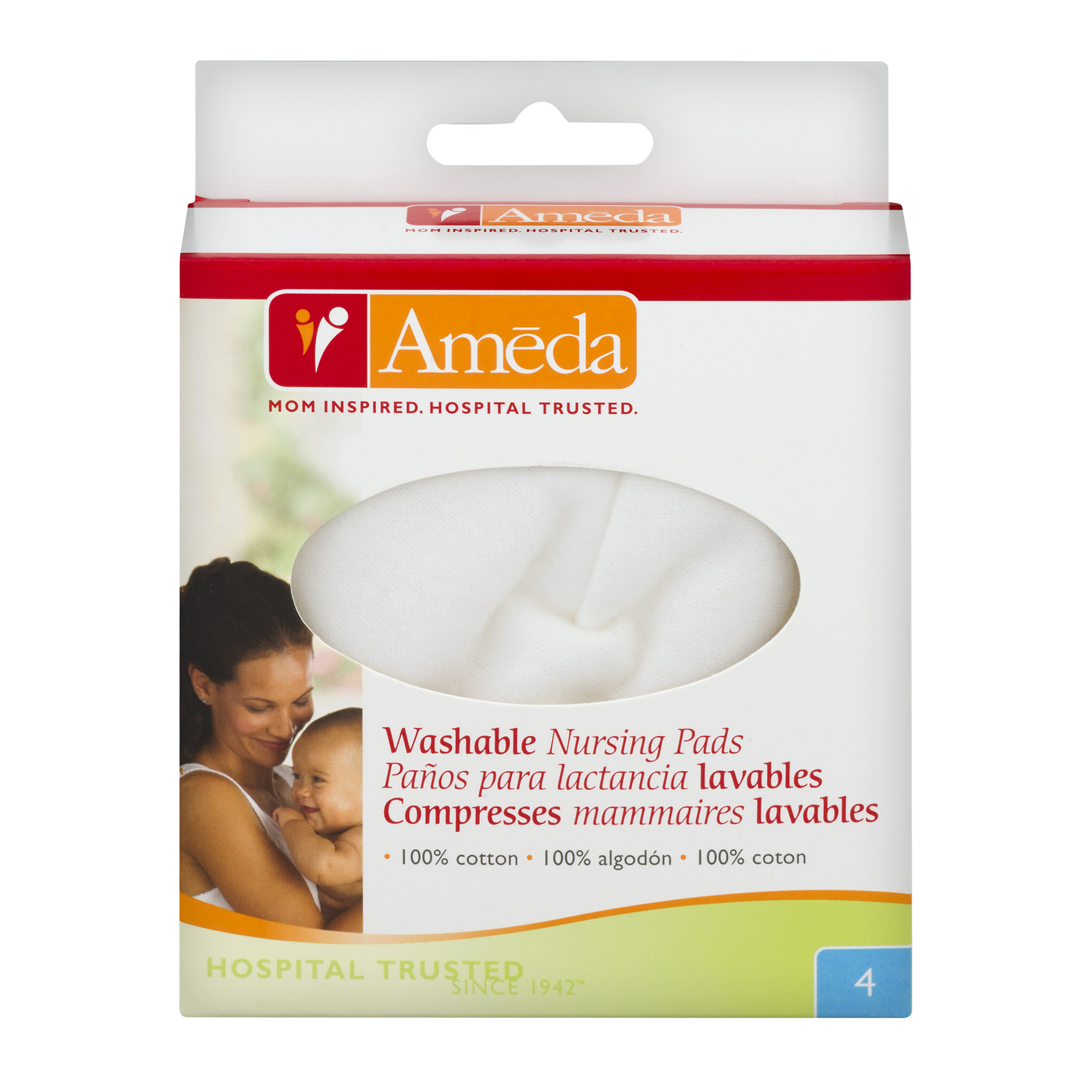 Ameda Washable Nursing Pads 4 CT4.0 CT by Ameda