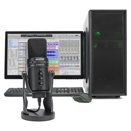 SAMSON G-Track Pro Studio USB Condenser Microphone Mic+Built in Audio (Best Music Studio Microphone)