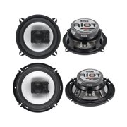"2) Boss R53 5.25"" 200W + 2) Boss R63 6.5"" 300W 3 Way Car Audio Coaxial Speakers"