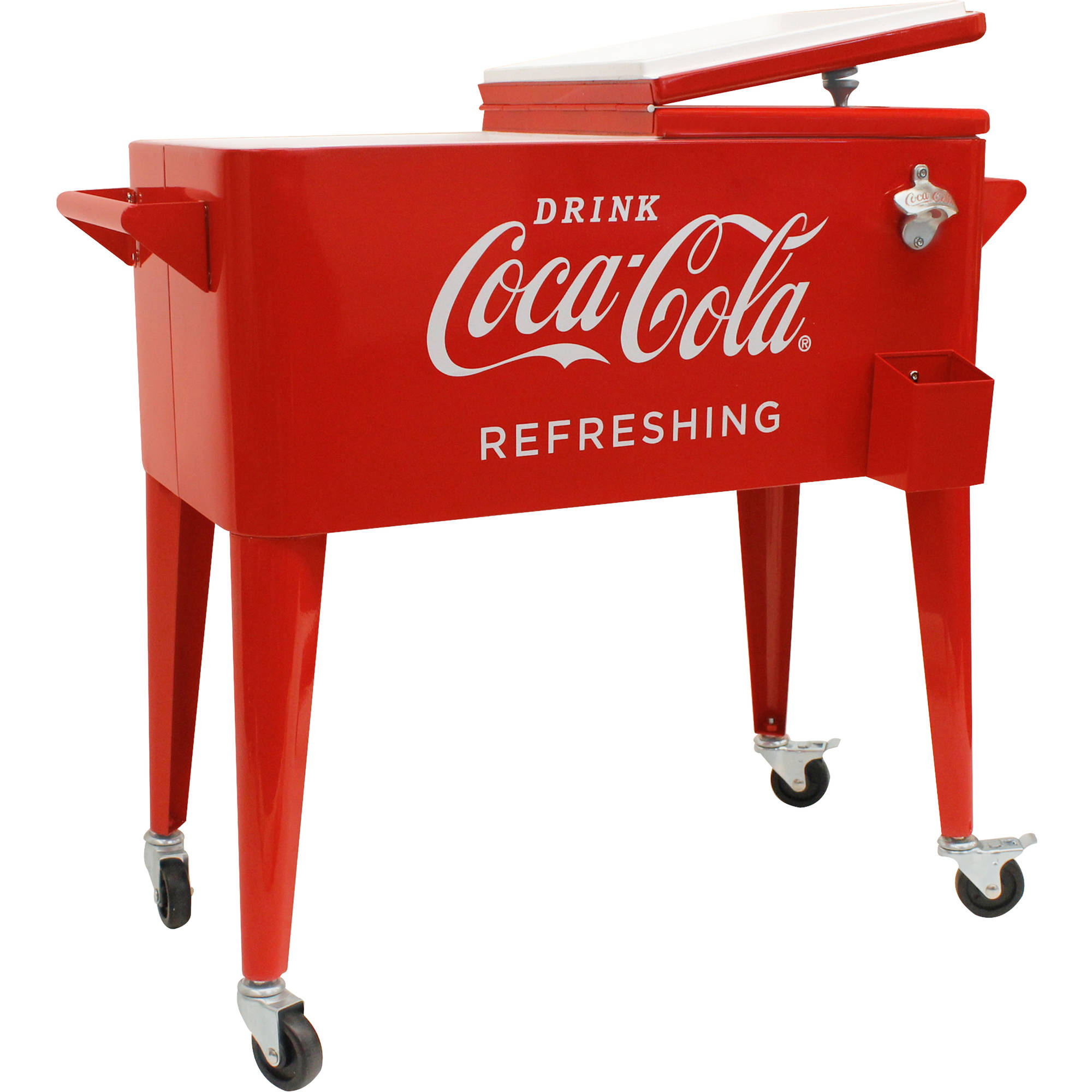 "80-Quart Retro Coca-Cola Cooler ""Refreshing"""
