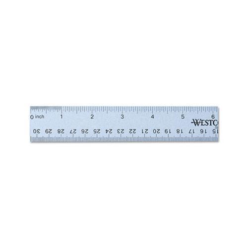 Westcott English and Metric Anodized Aluminum Ruler ACM14767