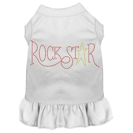 Rhinestone Rockstar Dress White Sm - Rockstar Dress