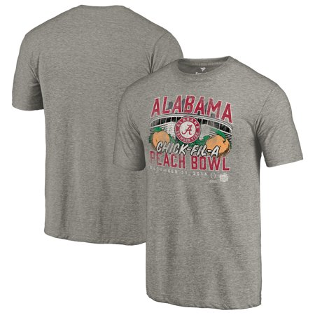 Alabama Crimson Tide Fanatics Branded College Football Playoff 2016 Peach Bowl Bound Prime Tri-Blend T-Shirt - Heather Gray ()